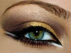 Gold and Silver Eye Make Up