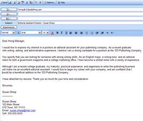 from place your cover letter in the of a resume