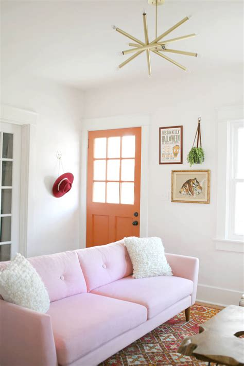 Pale Pink Sofa by 16 Chic Blush Pink Sofas How To Style Them