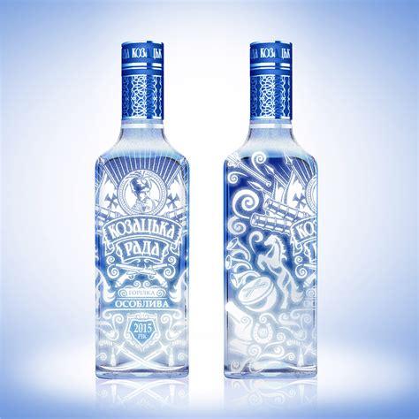 Kozatska Rada vodka on Behance