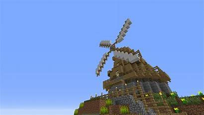 Windmill Minecraft Farm Building Buildings Functional Moving