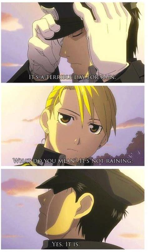 terrible day  rain fullmetal alchemist anime