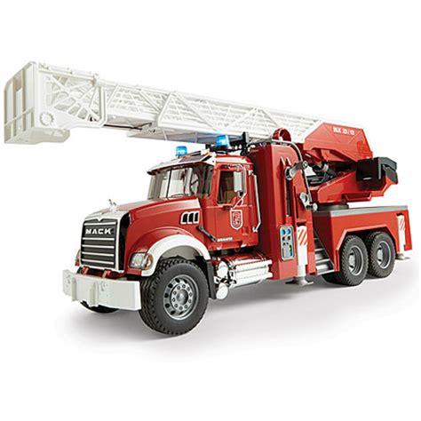 bruder fire truck bruder mack granite fire engine smart kids toys