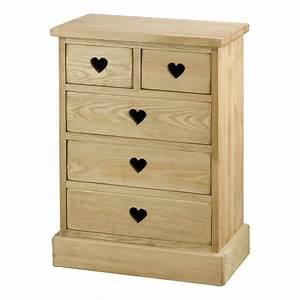 Commode À Peindre : couleurs mini commode en bois brut peindre avec 5 tiroirs ~ Carolinahurricanesstore.com Idées de Décoration