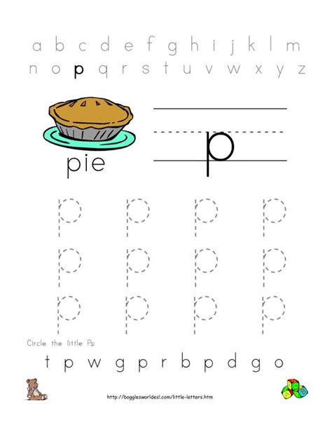 5 best images of free printable letter p worksheets
