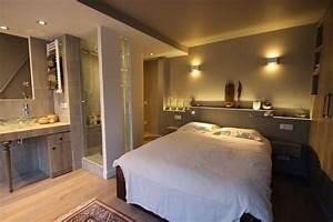 suite parentale avec salle de bain ouverte chambre With chambre avec salle de bain ouverte et dressing