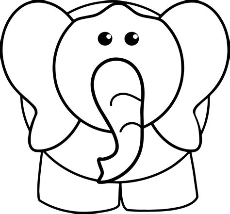 elephant front view drawing    clipartmag