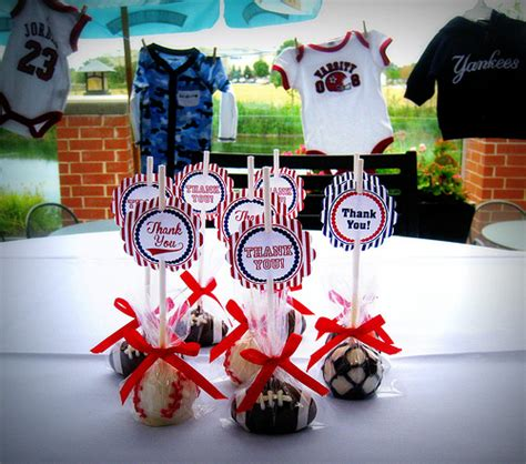 baseball baby shower decorations sports themed baby shower cake pops flickr photo