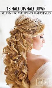 Down wedding hairstyles, Half up half down and Long curly ...