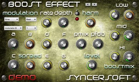 Syncersoft Boost Effect Harmonics Effect Plug-in Updated