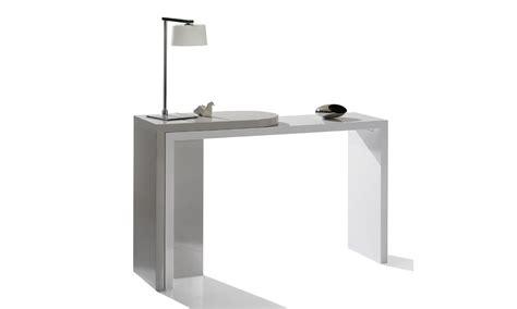 bureau console blanc bureau console blanc maison design wiblia com
