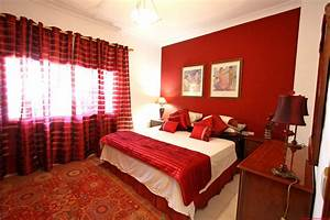Bedroom romantic red and white ideas home decor