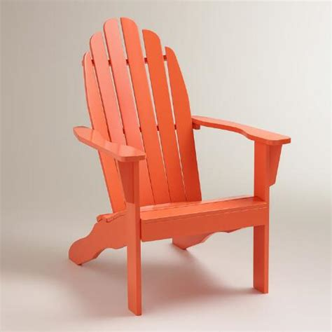 koi orange classic adirondack chair world market