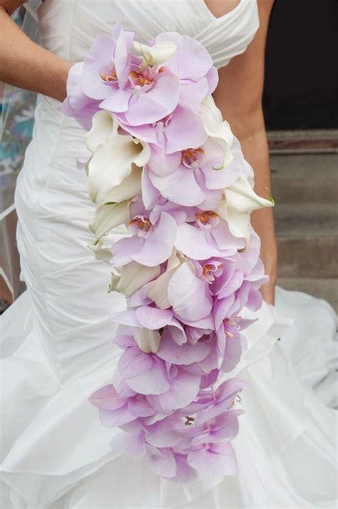 orchid wedding bouquets  brilliant colors modwedding
