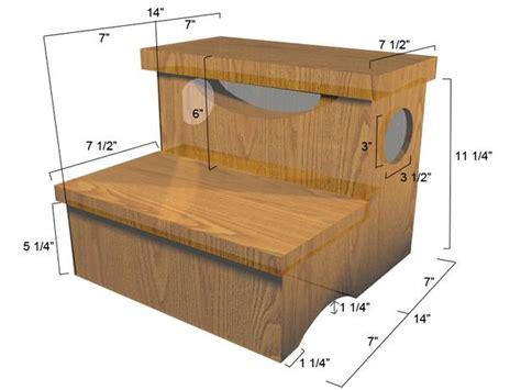woodwork diy wooden step stool  plans