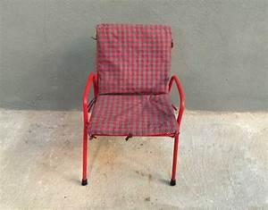 Chaise Enfant Vintage : chaise enfant m tal rouge vintage ~ Teatrodelosmanantiales.com Idées de Décoration