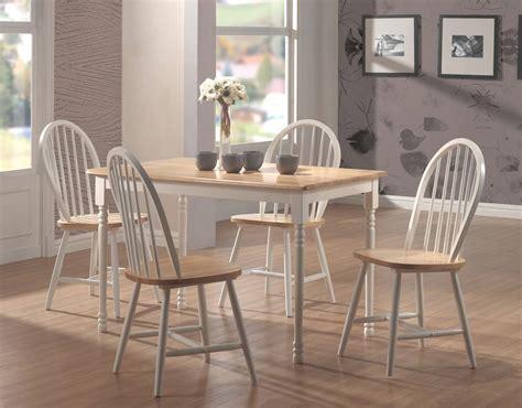 Damen Rectangular Dining Room Set (natural/white) Coaster