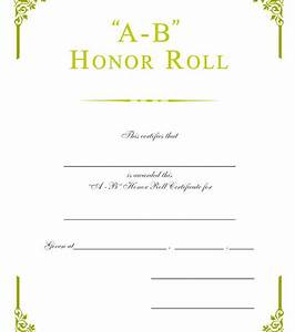 ab honor roll certificate b honor roll certificate 30pack With a b honor roll certificate template