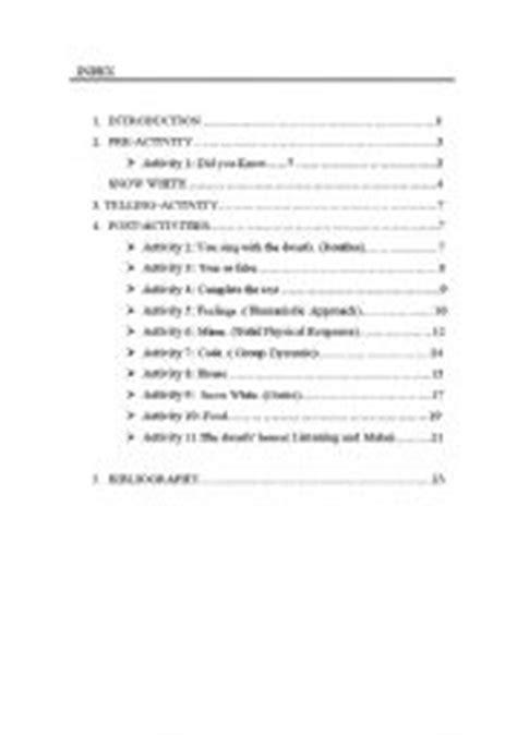 English Worksheets Storytelling Blancanieves