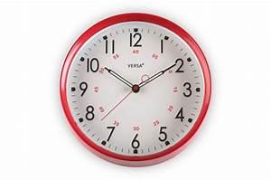 Horloge Murale Rouge : horloge murale ronde rouge horloge design pas cher ~ Teatrodelosmanantiales.com Idées de Décoration