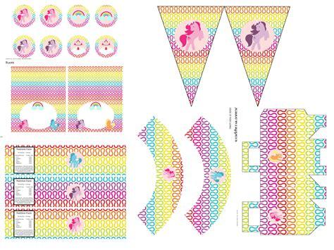 rainbow unicorn pony birthday printables magical printable