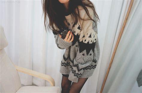 Leg L Sweater by Sweater Aztec Charcoal Black Shirt Oversized
