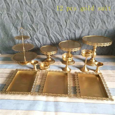 cake stand dome gold wedding candy bar glass cupcake crystal pieces stands decoration