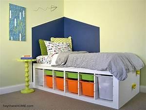 DIY Twin Storage Bed - IKEA Hack