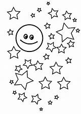 Coloring Stars Star Pages Moon Printable Accompanied Many Popular sketch template
