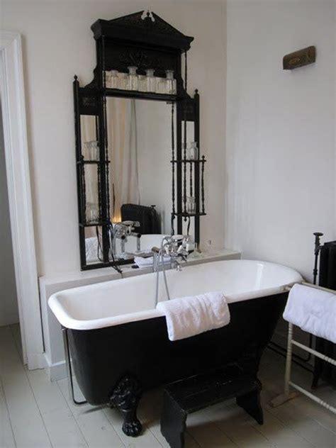 cool black bathtub  gothic influence home design