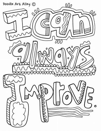 Mindset Coloring Growth Pages Sheets Classroom Doodles