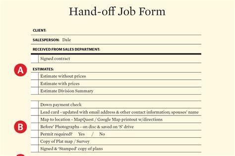 pass  baton sales  production hand  form