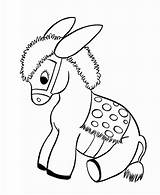 Donkey Coloring Printable sketch template