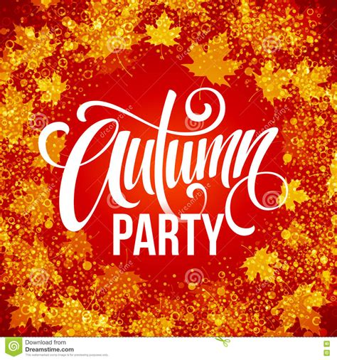 Fall  Ee  Party Ee   Template For Autumn Poster Banner Flyer