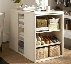 sutton closet island pottery barn