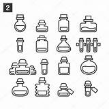 Potion Bottles Template Graphicriver Coloring Bottle Potions Outline Doodle Tattoo Sketch sketch template