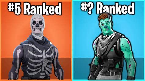 ranking  halloween skin  fortnite  worst