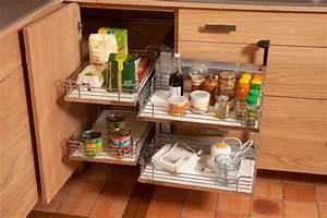 collection estives cuisines contemporaines en bois massif With amenagement placard d angle cuisine