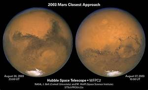 Mars: Closest Encounter Hubble Space Telescope Image