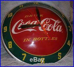 RARE Coca Cola Clock Double Bubble Soda Sign Advertising