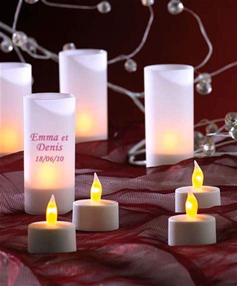 le lot de 6 bougies led photophore avec piles noel