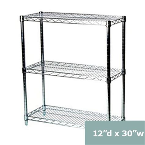 tier wire shelving racks  inches deep