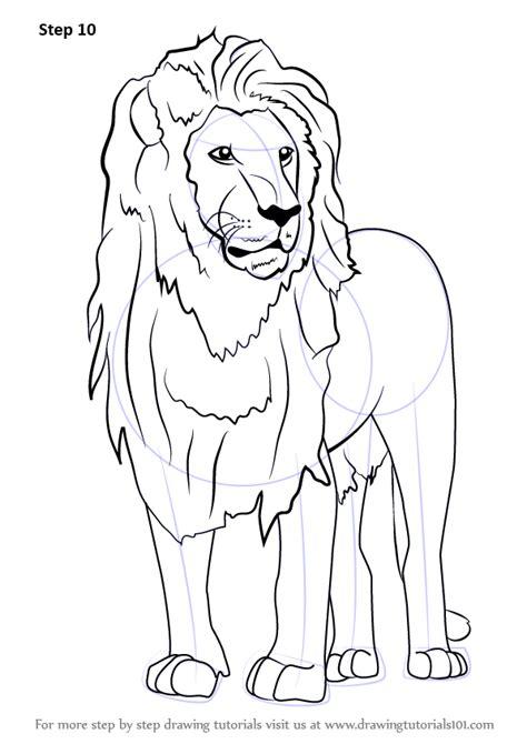 step  step   draw  asian lion