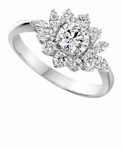 Diamond Ring Cluster Rings Engagement Marquise Unusual