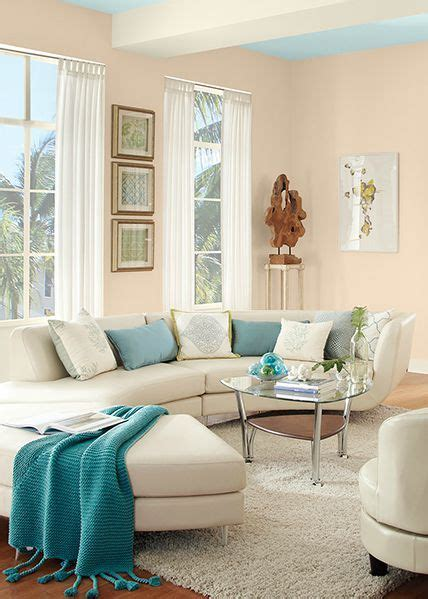 pair behr sea blue paint color with porcelain and ballet white to make your room feel