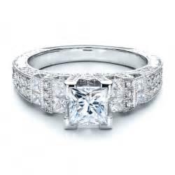 engagement ring stones princess cut side stones engagement ring vanna k bellevue seattle joseph jewelry