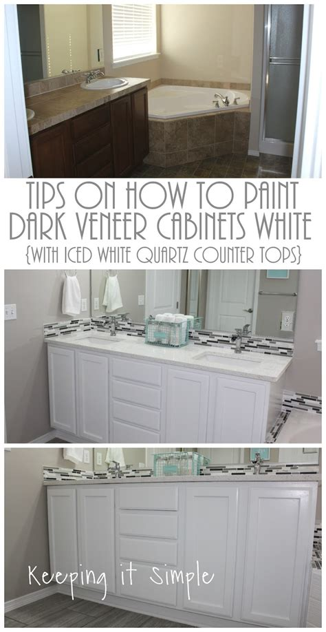tips on painting kitchen cabinets tips on how to paint veneer cabinets white with iced 8539