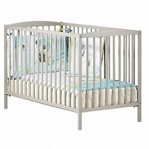 Lit Bébé Dimension : lit b b barreaux 60x120cm taupe de baby price sur allob b ~ Teatrodelosmanantiales.com Idées de Décoration