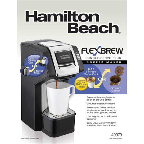 The hamilton beach flexbrew is indeed flexible with two ways to brew coffee. Hamilton Beach FlexBrew® Single-Serve Plus Coffee Maker, Black & Silver - 49979