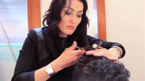 step  step mens haircut cutting curly hair youtube